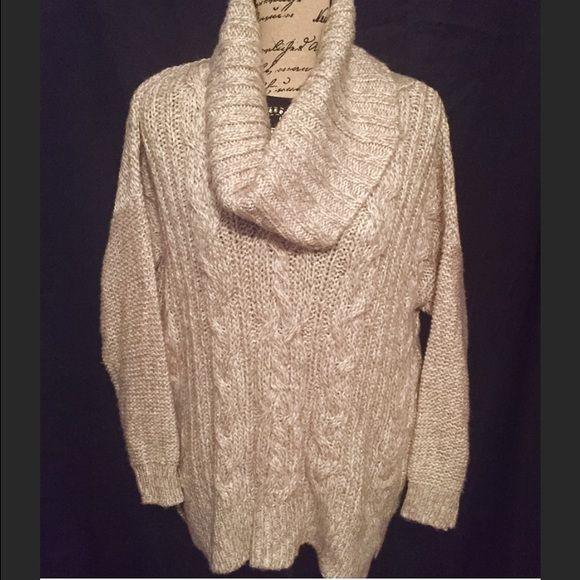 Jennifer Lopez Chunky Beige Cowl Neck Sweater M | Cowl neck ...