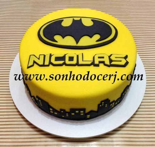 Bolo Batman Cidade Cod B208 Batman Cakes Batman Birthday