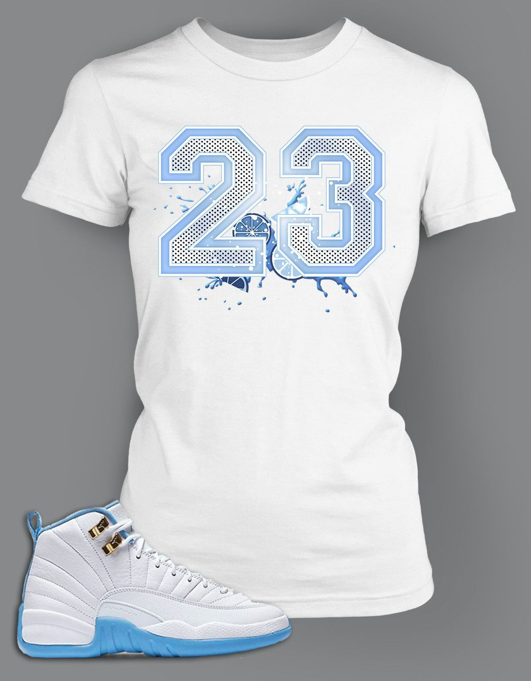 4728c49e80b06e Womens Graphic T Shirt To Match Retro Air Jordan 12 Melo Shoe ...