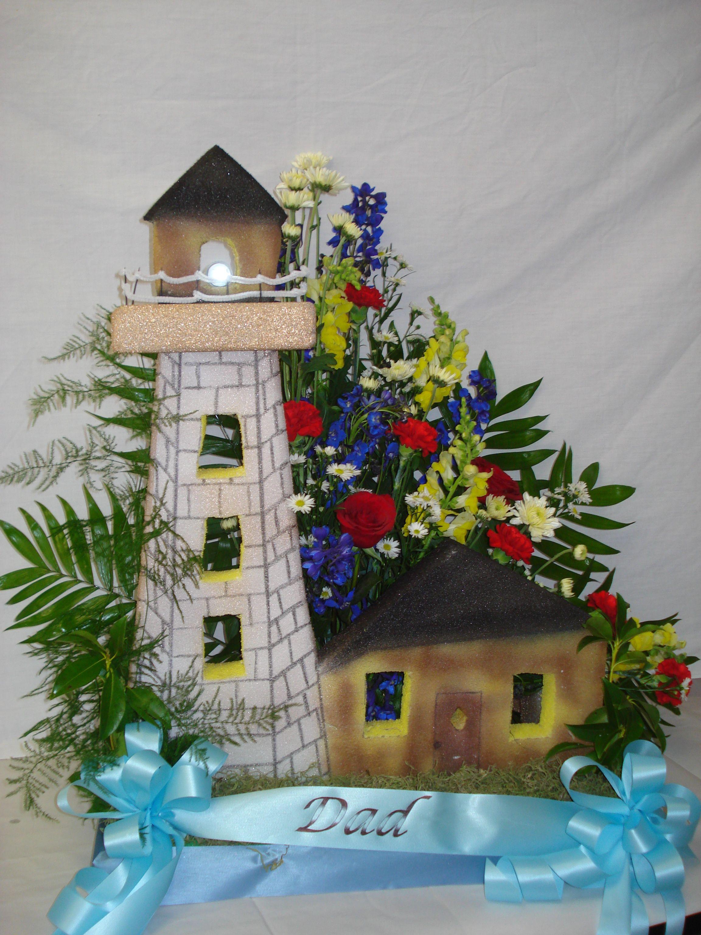 Lighthouse custom funeral flowers memorial service quotes for lighthouse custom funeral flowers izmirmasajfo