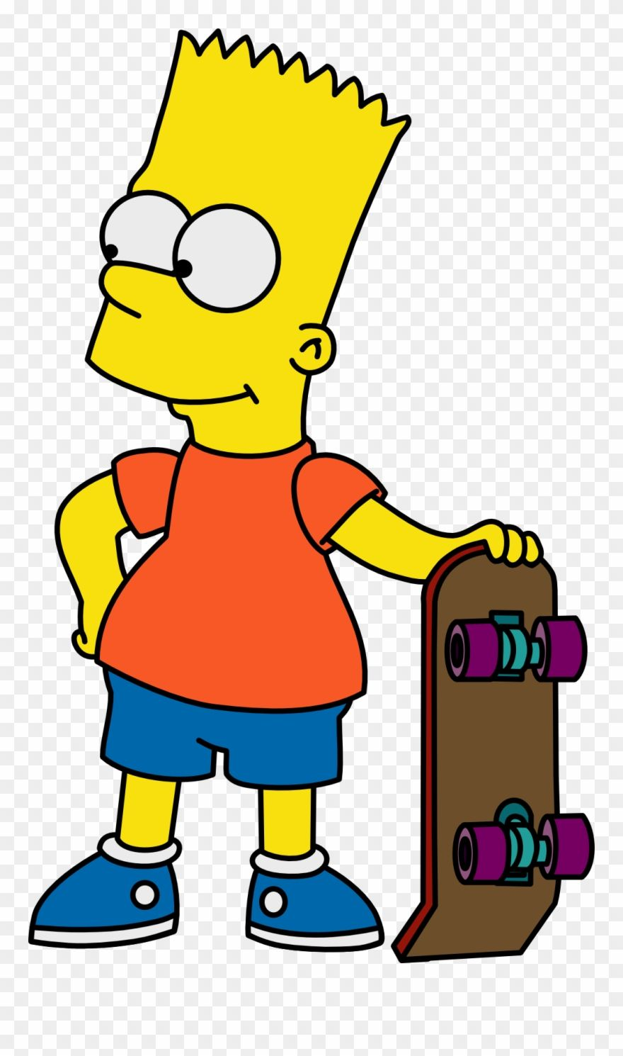 Gas Mask Clipart Bart Simpson Bart Simpson With Skateboard Png Download Bart Simpson Skateboarder Drawing Simpsons Art