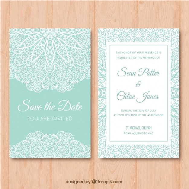 Download Green And White Wedding Card With Mandala Desig For Free Wedding Cards Game Card Design Wedding Invitations