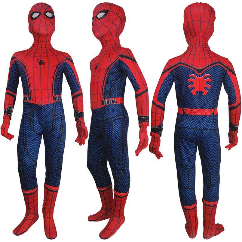 Spiderman Cosplay Costume Fancy Makeup Jumpsuit Adult Men Superhero Jumpsuit