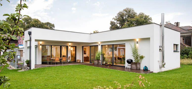 Fertighaus bungalow holz  Traum Bungalow Haus Design - archaische Formen - Stein / Beton + ...