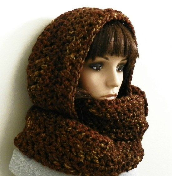CROCHET PATTERN PDF for Windy City Extra Long, Chunky Hooded Scarf ...