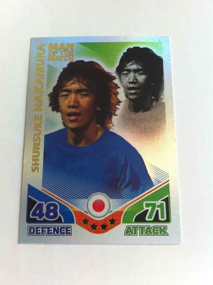 Match Attax 2010 Shunsuke Nakamura Japan Shiny Man of the