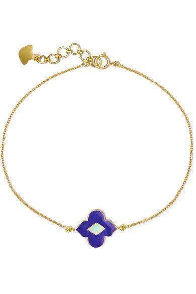 Amrapali 18-karat Gold Enamel Bracelet hR0hIOEnn