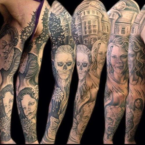 20 Staggering American Horror Story Tattoos You Ll Need To See American Horror Story Tattoo Story Tattoo American Horror Story