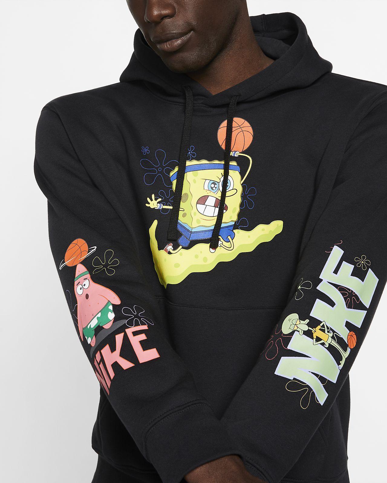 Canguro cansada bestia  Kyrie x Spongebob Men's Basketball Hoodie. Nike.com | Hoodies, Workout  hoodie, Black hoodie
