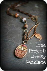 Art Bead Scene Blog: Free Project: Woodsy