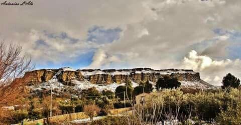 Paesaggi innevati a #Corleone. Foto di Antonino Lala