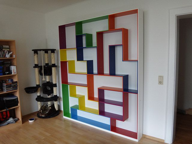 Fantastisch Tetris Shelving, A Geeky Display And Storage Solution