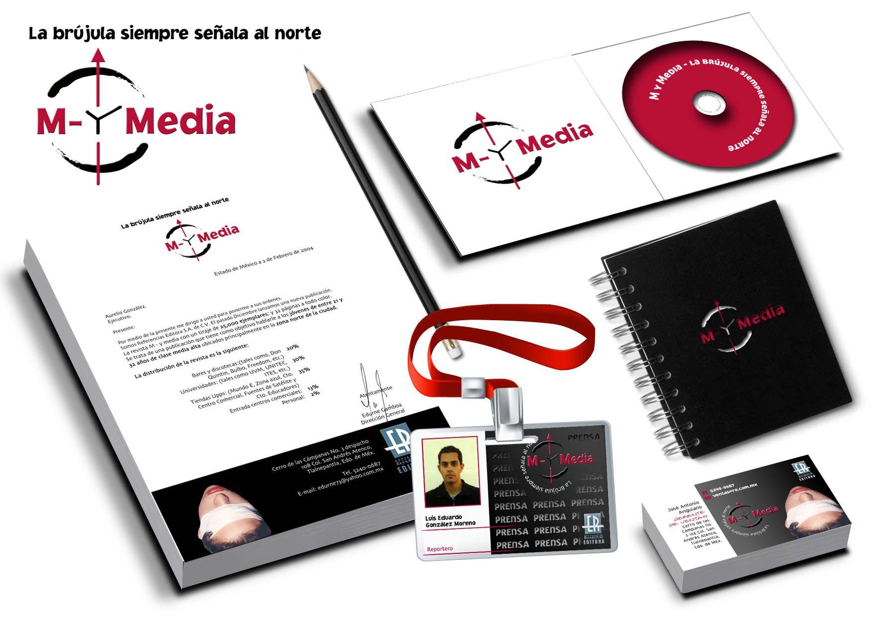 Identidad Corporativa. Revista M y Media. www.eggz.com.mx   logos ...
