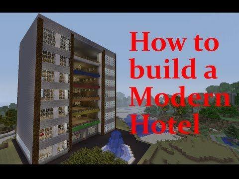 Minecraft: Hotel Tutorial - YouTube | Minecraft | Minecraft videos