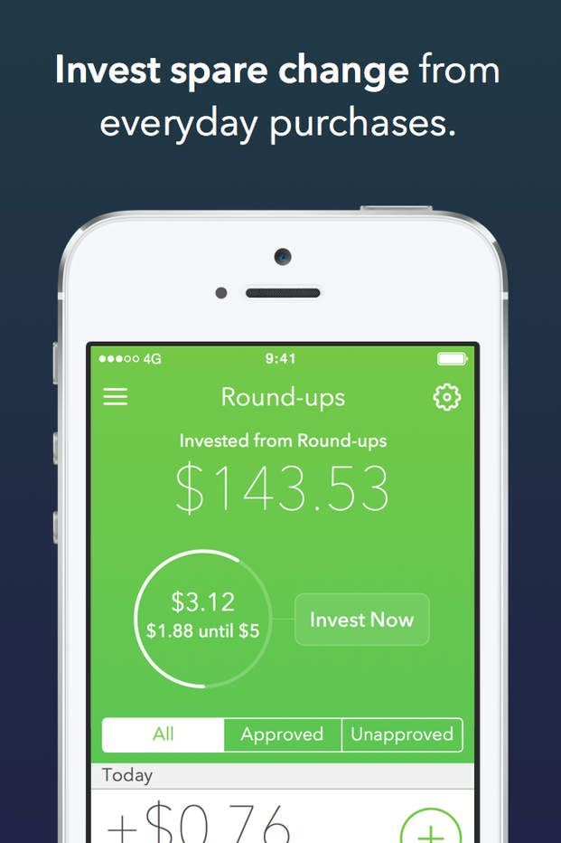 Acorns Invest Spare Change into Stocks for iPhone & iPad