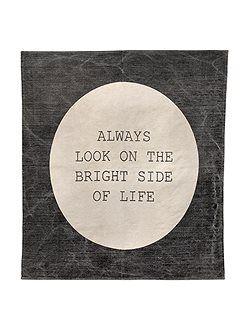 AuBergewohnlich Teppich Weicher Baumwoll Teppich Mit Motivations Spruch: Always Look On The  Bright Side Of Life