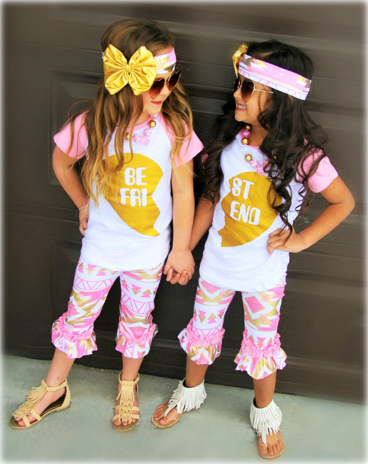 fcb6e5e001 BEST FRIEND Sets, Best Friend Shirts, Girls Clothing, Baby Girl Clothing,  Aztec Leggings, Capri Leggings,Leggings,Big Sister,Little Sister by ...