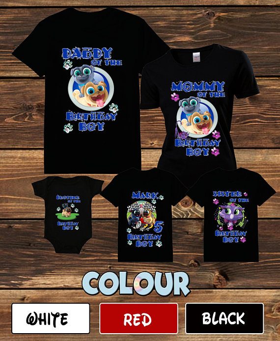 Puppy Dog Pals Birthday Shirts Customized Tshirt Disney Pal