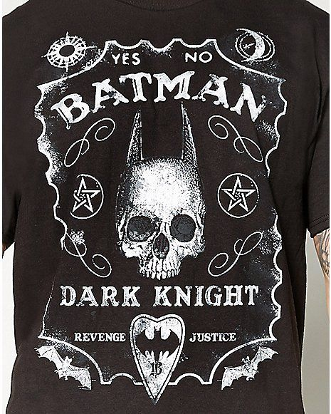 f6d256225fdd8 Batman Dark Knight Ouija Board Tee - Spencer s