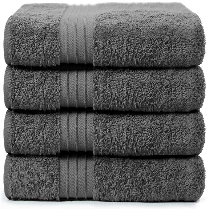 Amazon Com 4 Piece Bath Towels Set For Bathroom Spa Hotel