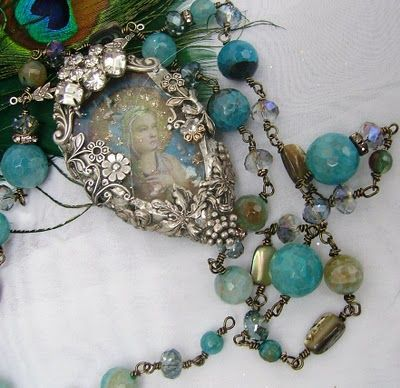 such delicate filigree with turquoise