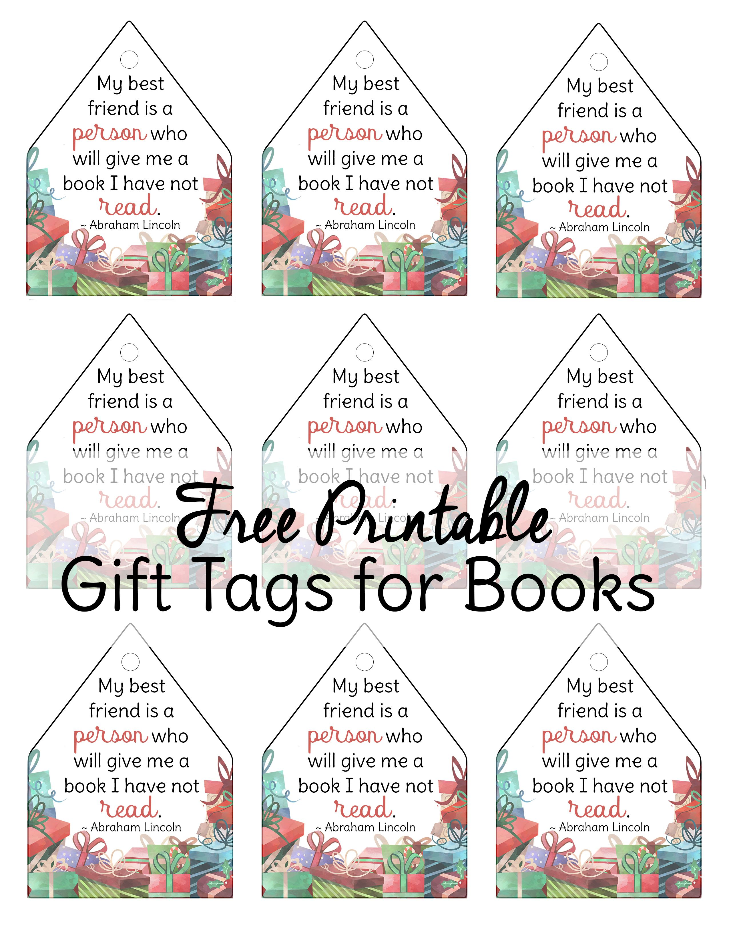 graphic about Free Printable Gift Tag titled No cost Printable Xmas Present Tags for Organized-towards-Study Textbooks