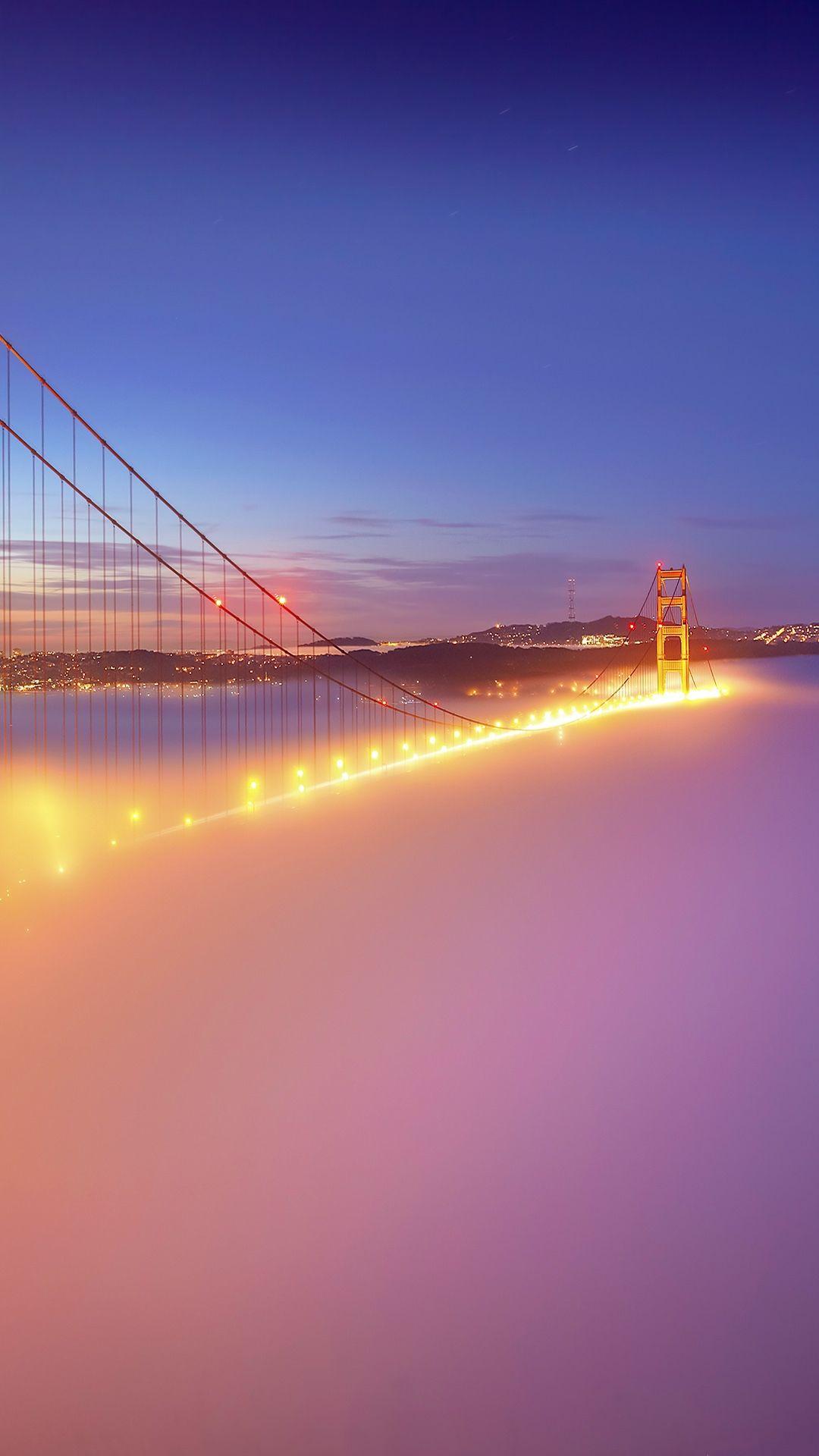 Golden Gate Bridge in the Fog widescreen wallpaper Wide