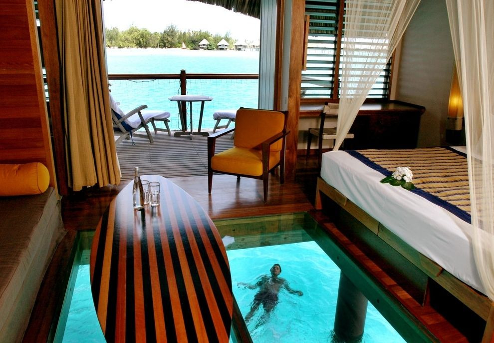 The Over Water Bungalow At Le Meridien In Bora Bora Water