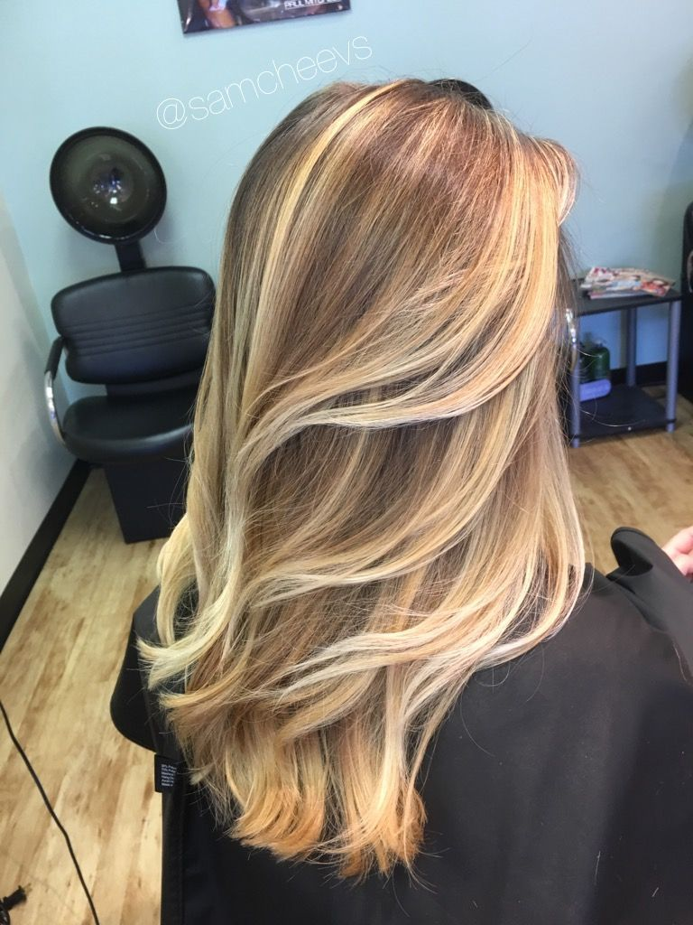 Platinum Honey Warm White Blonde Highlights Balayage For Long Dirty