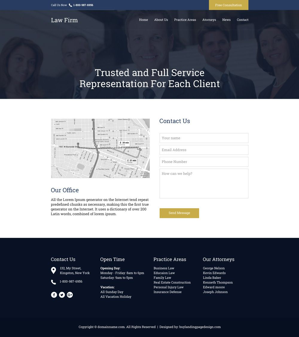 Download professional law firm free consultation