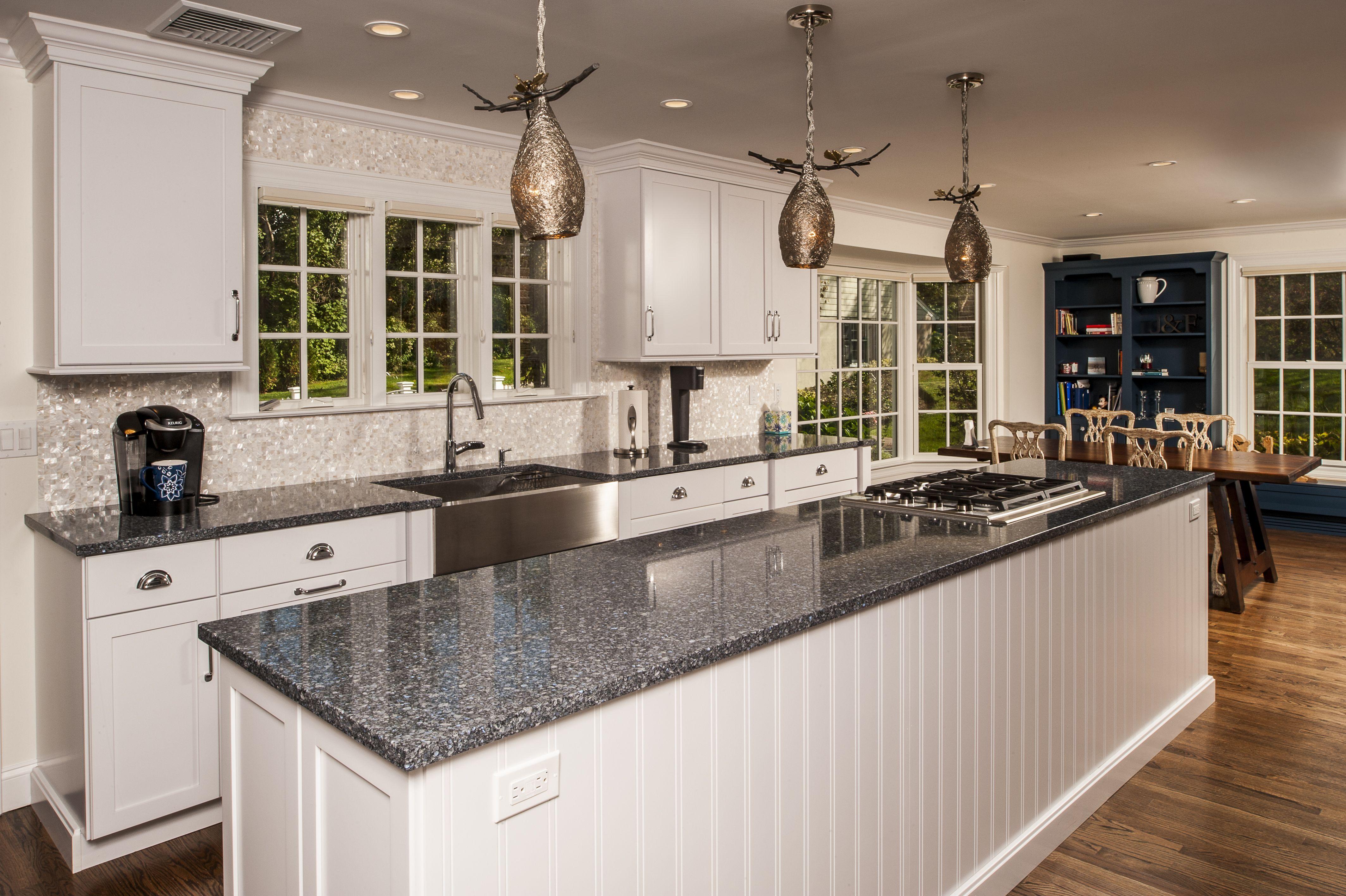 Stainless Steel Farmhouse Sink White Kitchen With Center Island