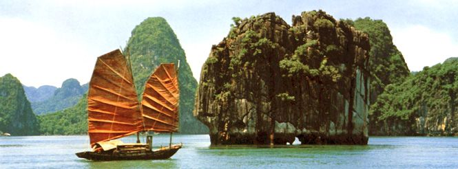 Private luxury Halong Bay 1 Day Trip, cruise the traditional wooden junk through the thousands of limestone islands just out of the emerald ocean waters.