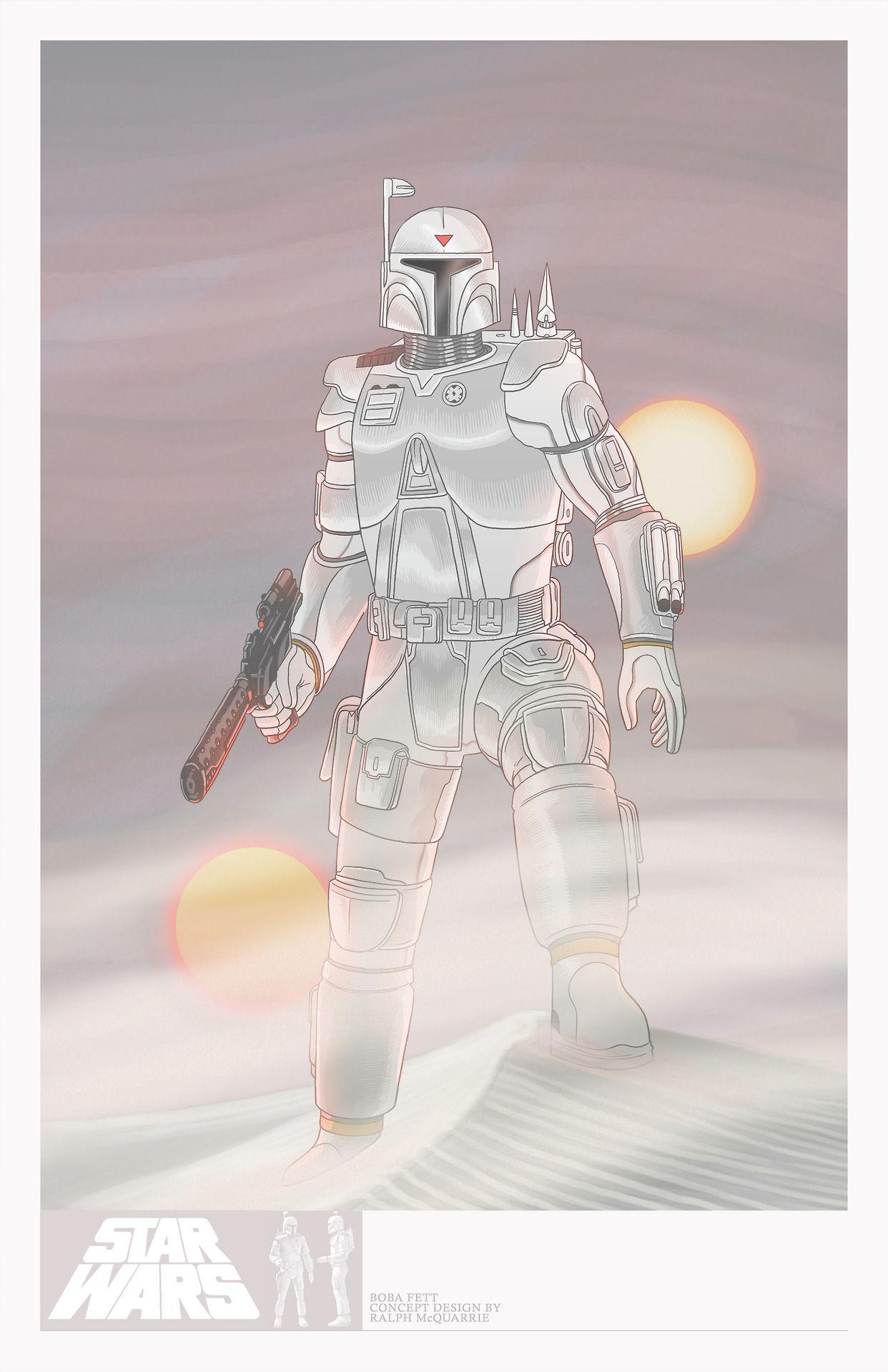 Star Wars Boba Fett By Ralph Mcquarrie Boba Fett Pinterest