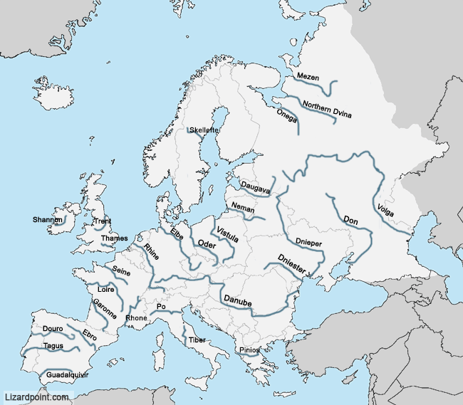 physical map of europe rivers Pin on Water + Weather