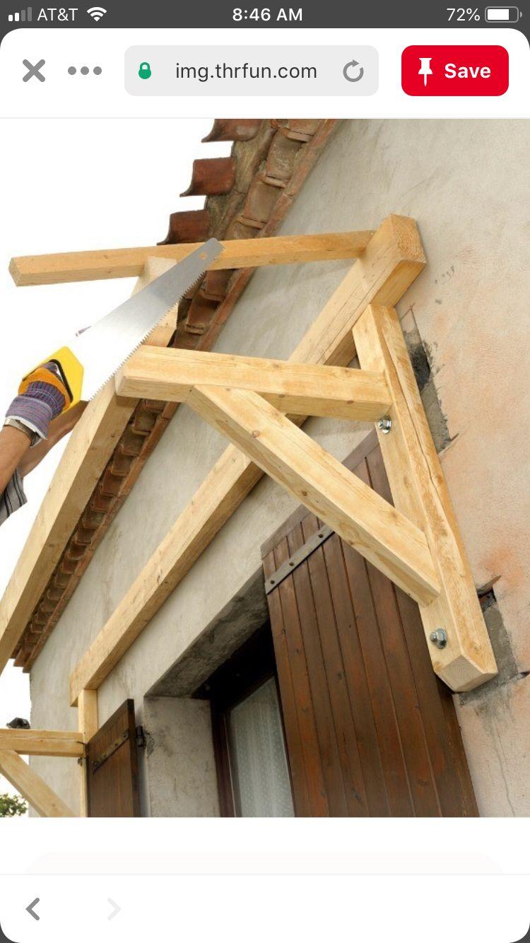 Build This Awning Above Garage Door Diy Awning Awning Over Door Door Awnings