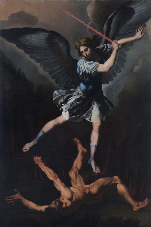 Image result for angel michael devil demon