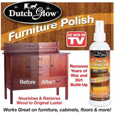 Dutch Glow Wood Milk Furniture Polish Amish Wood Milk Amish Furniture Polish Furniture Polish