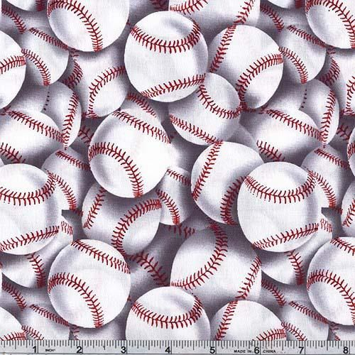 Timeless Treasures Baseball Toss White from @fabricdotcom From ... : baseball fabric for quilting - Adamdwight.com