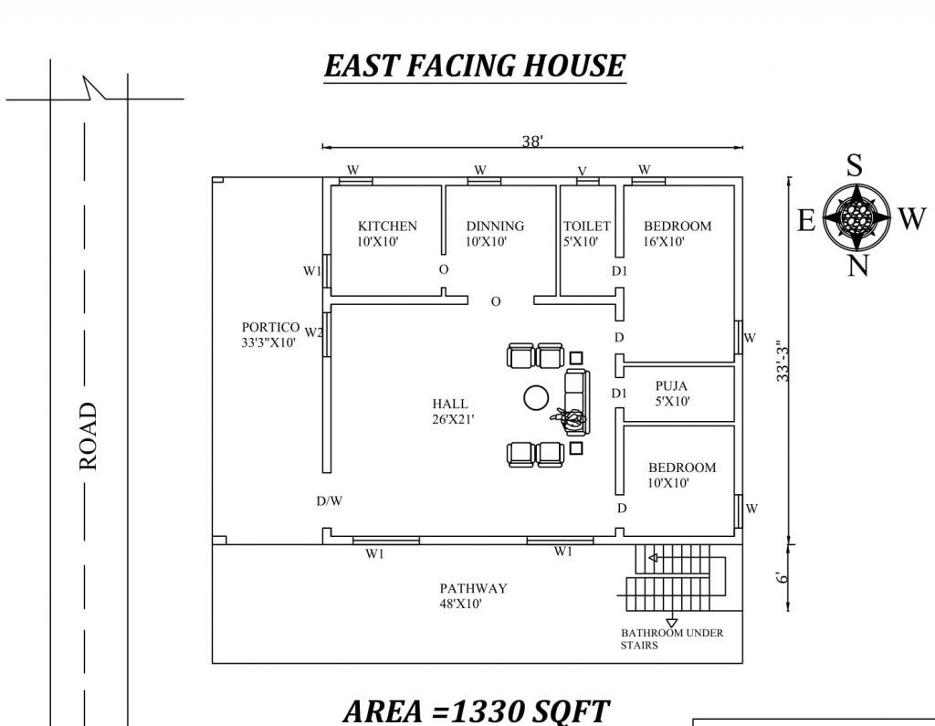 27 Best East Facing House Plans As Per Vastu Shastra Civilengi House Plans My House Plans 2bhk House Plan