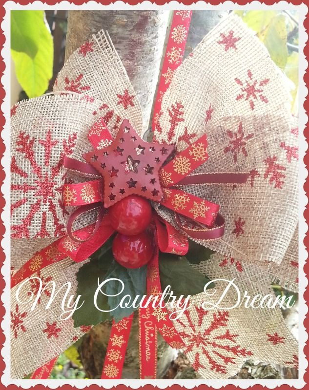 Christmas Heart Wreath www.mycountrydream.com