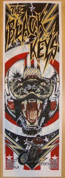 2012 The Black Keys - Sydney II Concert Poster by Rhys Cooper