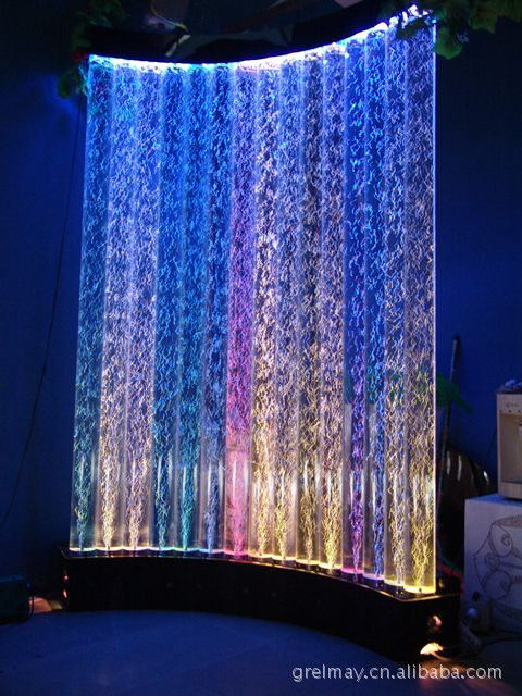 Curved Bubble Wall Bubble Lights Water Walls Bubble Wall