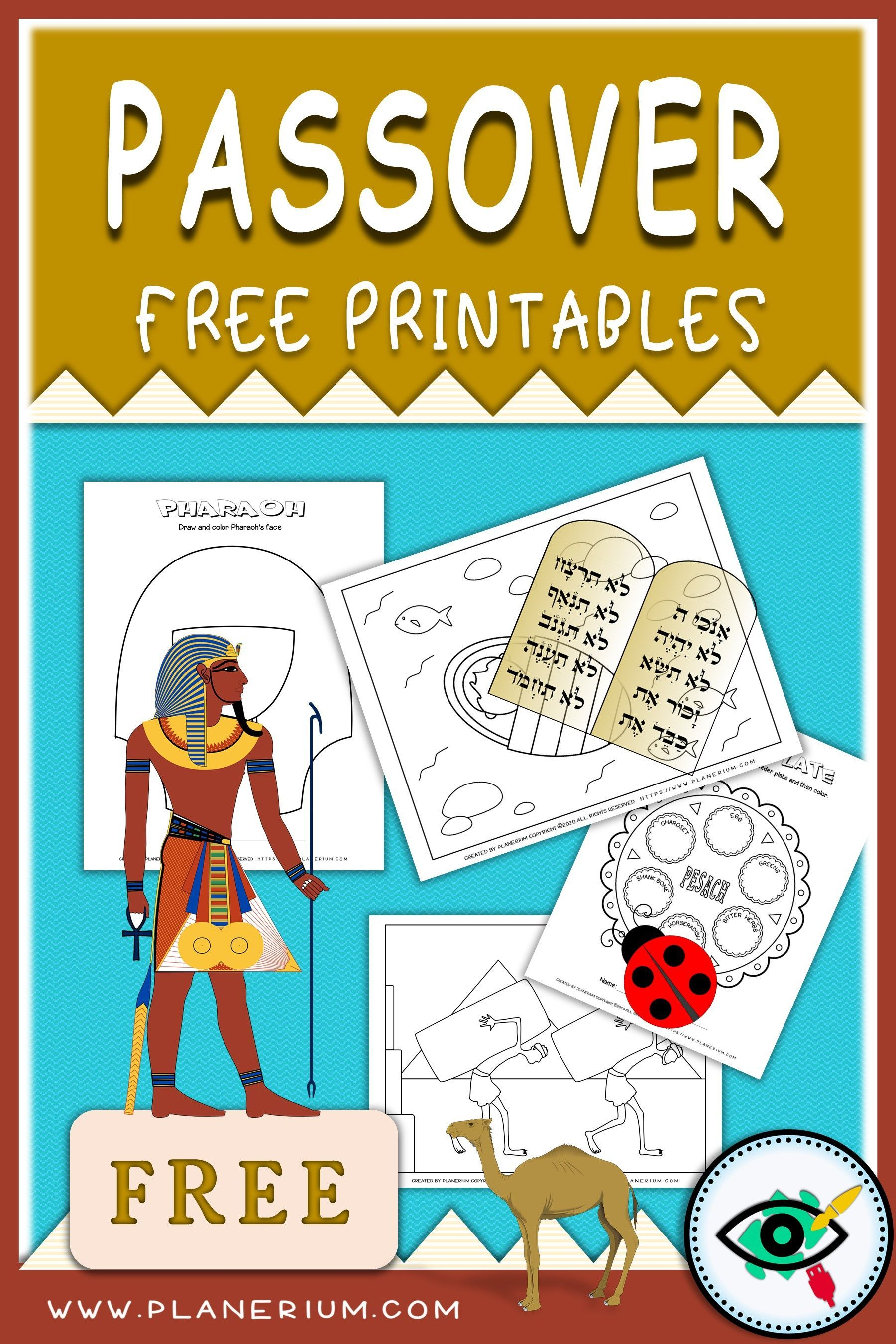 Passover Kids Free Printables In