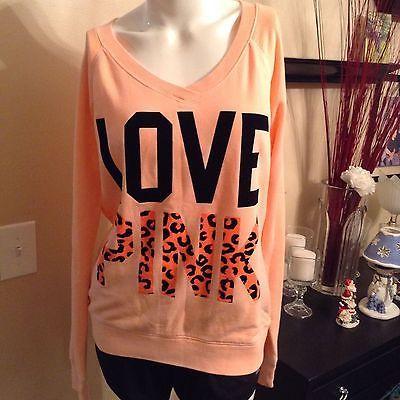 #LastMinute - Victorias Secret PINK sweatshirt hoodie pullover jacket medium med m coral  http://dlvr.it/MrkptK - http://Ebaypic.twitter.com/zBWm6BRDGN
