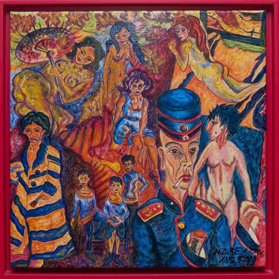 Le Bodel de Mélimé  Kirchnerlo Peinture sur toile par HighlightArt