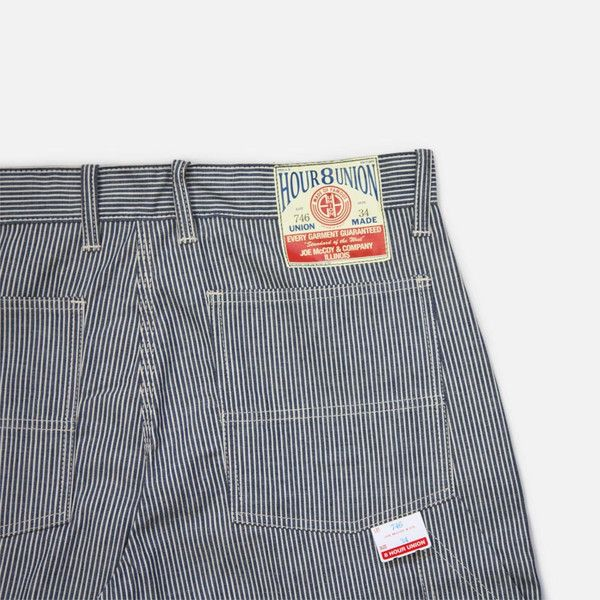 8 Hour Work Shorts - Hickory Stripe