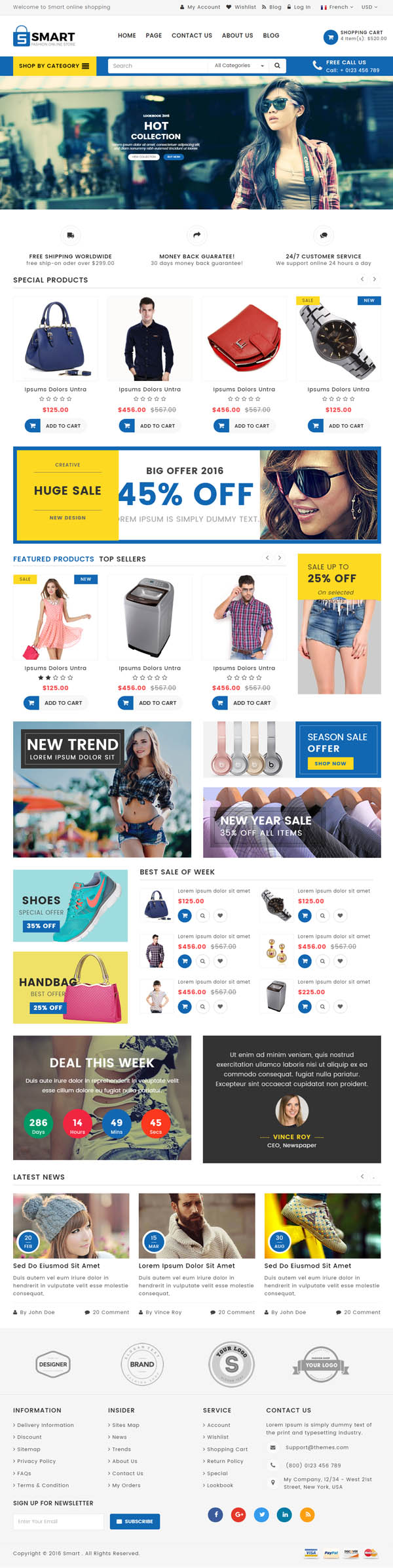 SMART : MULTIPURPOSE E-COMMERCE HTML TEMPLATE #html5 #html5templates ...
