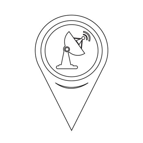 Map Pointer Satellite Dish Icon Satellite Illustration Wifi Icon Satellites