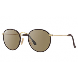 636561a3655 Ray Ban RB3475Q Round Craft sunglasses – Brown  Gold Frame   Brown Classic  Lens