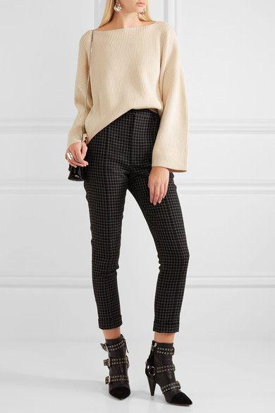 Isabel Marant - Fly Ribbed Cotton-blend Sweater - Ecru - FR38